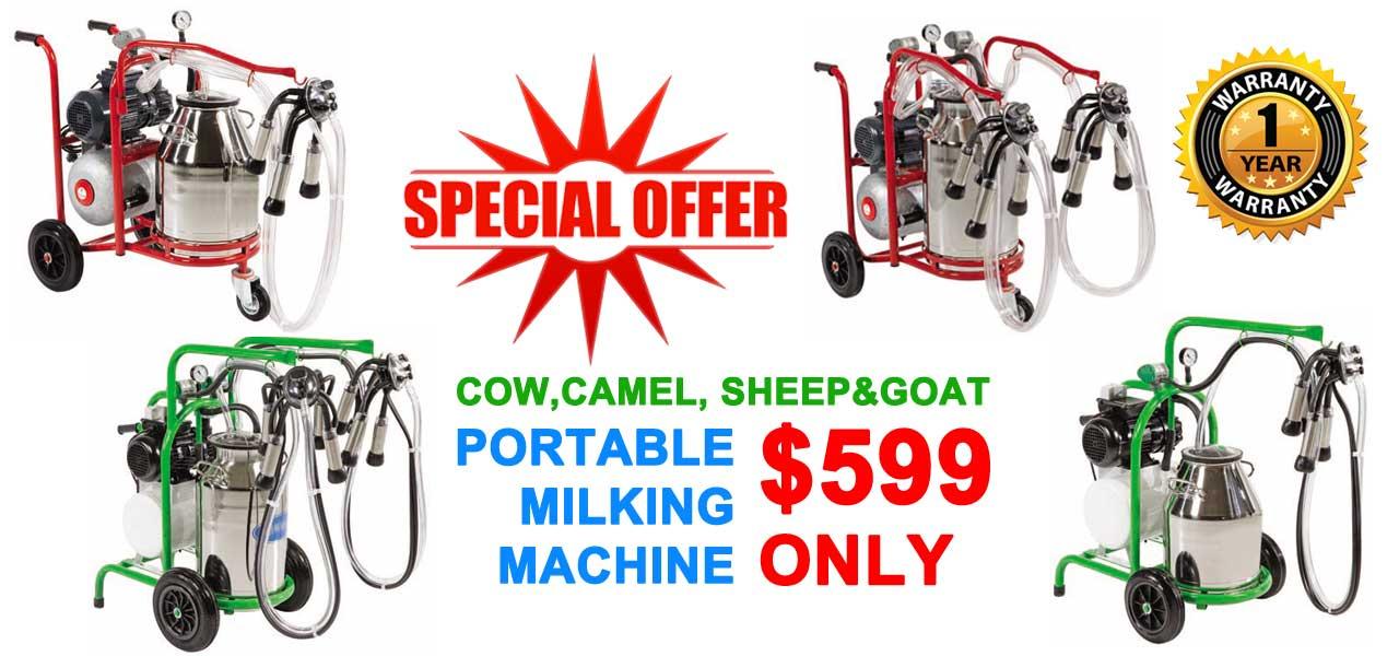 milking machine offer